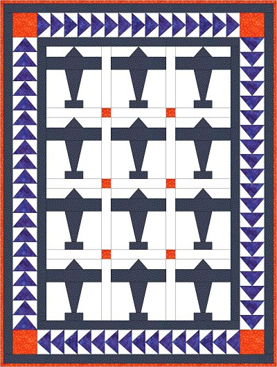 Crib Size Airplane Quilt Pattern