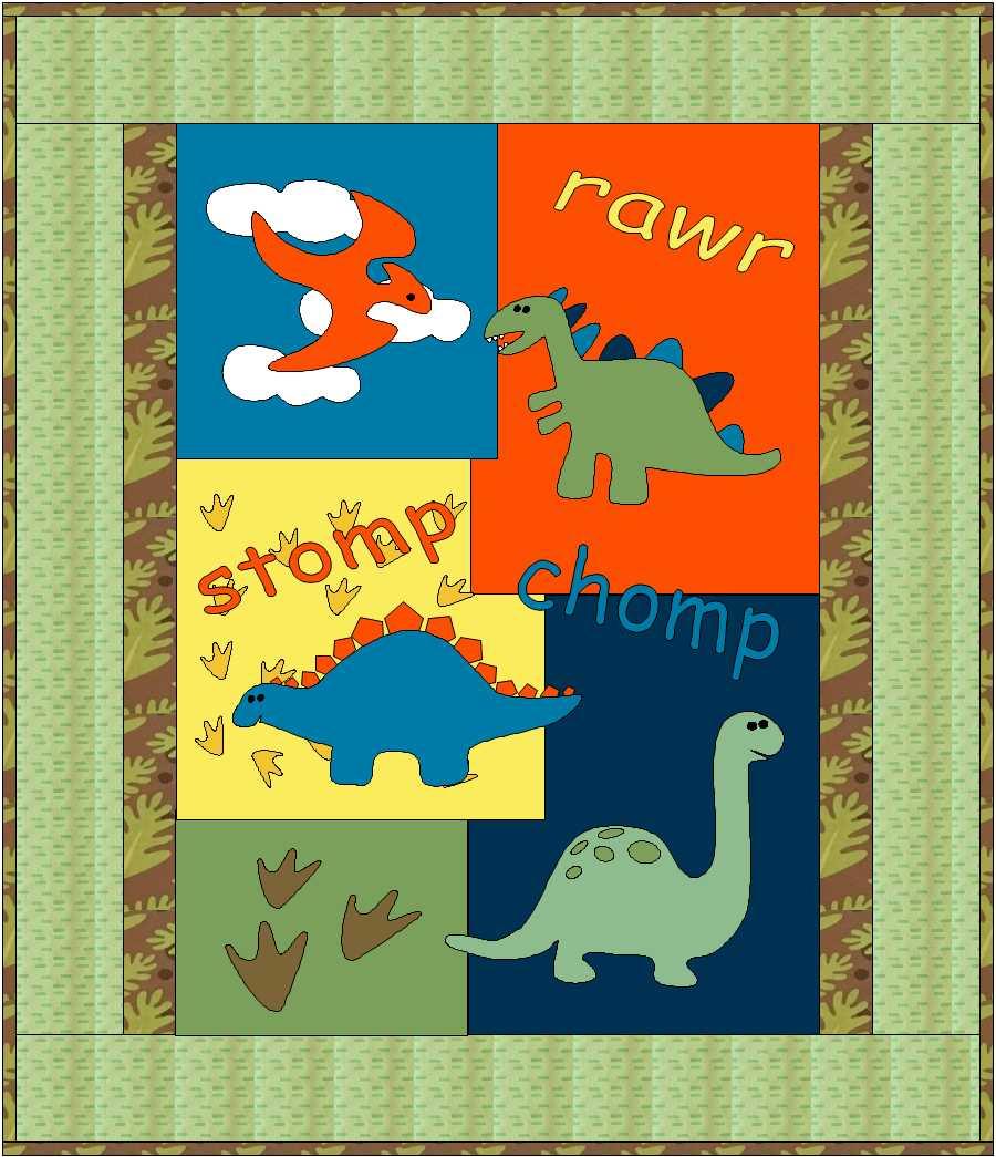 Dinosaur Baby Quilt Pattern