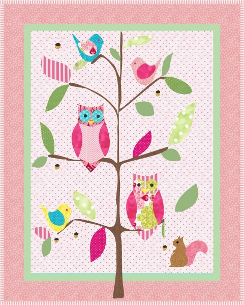 Sophies Pink Owl Quilt Pattern