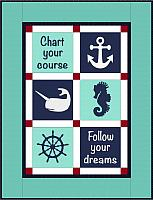 Nautical Gender Neutral Baby Quilt Pattern