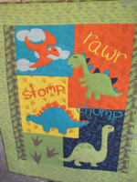 Dinosaur Stomp Baby or Child Quilt