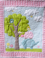 Effie's Elephant Baby Girl or Toddler Quilt