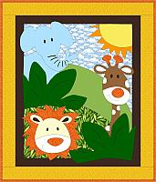 Jungle Toss Baby or Toddler Quilt Pattern
