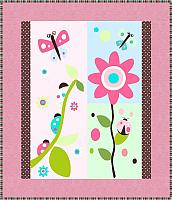 Ladybugs and Flowers Quilt Pattern