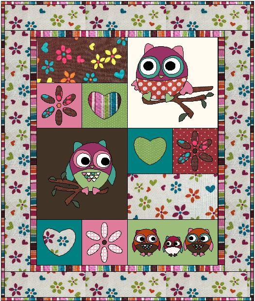 Owl Tree Quilt Pattern