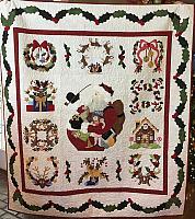 Vintage Santa Christmas Quilt