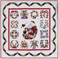 Vintage Santa Christmas Quilt Pattern - Baltimore Album Style