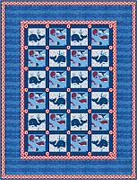 Baby Whales Gender Neutral Quilt Pattern
