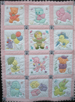 Vintage Baby Quilt - Free Shipping!