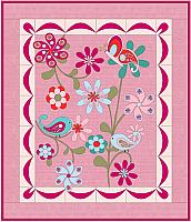 Birds Butterflies and Flowers Quilt Pattern